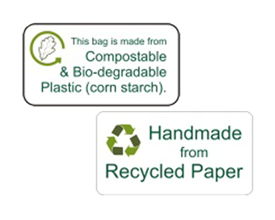 photo about Printable Sticky Labels named recycled printable self adhesive labels