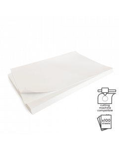 A4 Plain Recycled Sticker Paper 100Pk-White