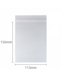 113x156mm (A6) Self Seal Compostable 100 Pk