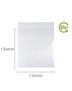 130x135mm Compostable Plain Lip bag 100 Pk