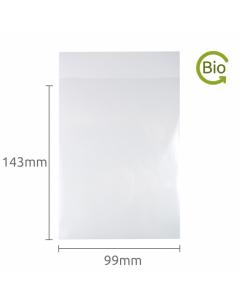 99x143mm Compostable Plain Lip bag 100 Pk