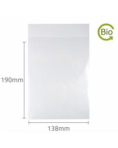 138x190mm Compostable bag 1000 Pk