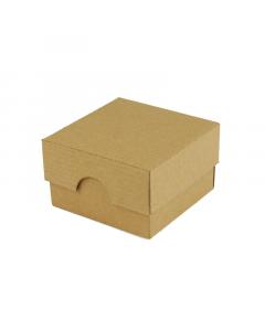 50x50x30mm Box & Lid - Ribbed Brown 10Pk.