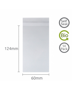 60x124mm Self Seal Bio-degradable 50 Pk