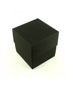 90x90x95mm (candle) Box & Lid - Black 10Pk.