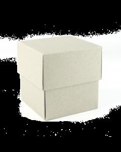90x90x95mm (candle) Box & Lid 10Pk. DuoGrey