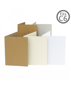 A6 / C6 Card Natural 10 Pk (104x147mm)