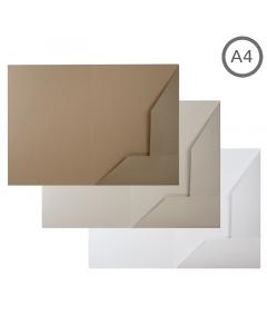 A4 Presentation Folder Natural 100Pk