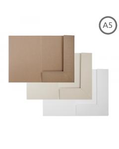 A5 Presentation Folder Natural 10Pk