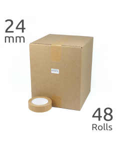 Wholesale Box of Self Adhesive Paper Parcel Tape (24mm wide x 48 rolls)