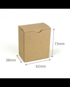 38 x 62 x 73mm Carton - Hairy Manilla 10Pk