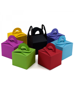 (67mm x 67mm x 57mm) Square Wedding Favour Box Colours 100Pk