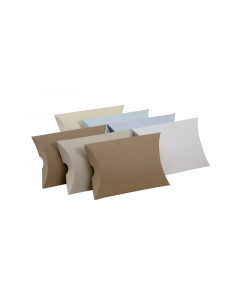 (85mm x 74mm x 20mm) Mini Pillow Box Natural 10Pk