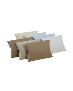(100mm x 85mm x 25mm) Small Pillow Box Natural 100Pk