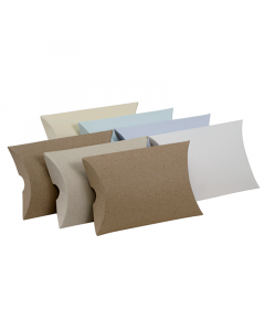 (122mm x 100mm x 30mm) Large Pillow Box Natural 10Pk