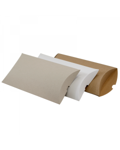 (210mm x 140mm x 35mm) Ex Long Pillow Box Natural 100Pk