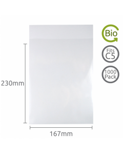 167x230mm (C5) Compostable bag 1000 Pk