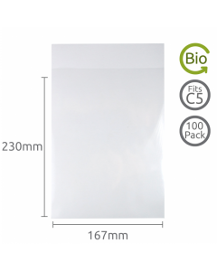 167x230mm (C5) Compostable bag 100 Pk