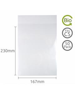 167x230mm (C5) Compostable bag 50 Pk