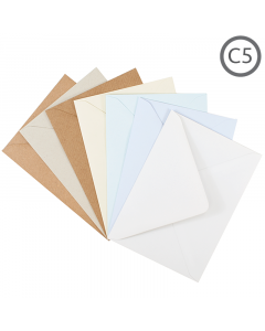 C5 Recycled Envelope Natural 100Pk