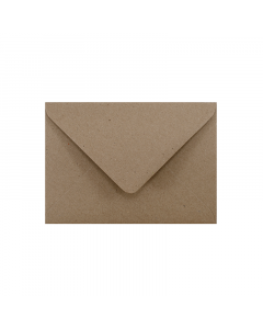 C6 Envelope Hairy Manilla (Kraft Brown)