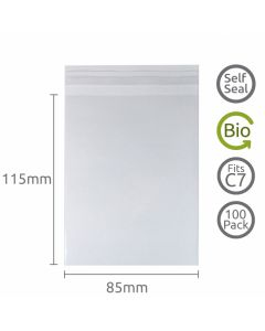 85x115mm Self Seal Compostable 100 Pk