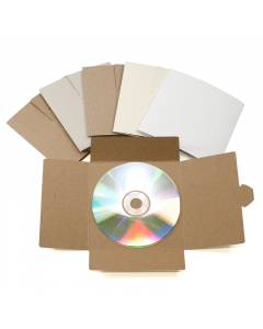 No Glue CD Sleeve Natural 10Pk