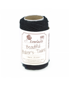 20m Cotton Twine - Black