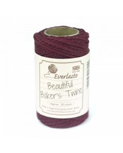 20m Cotton Twine - Burgundy