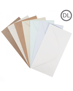 DL Recycled Envelope Natural 100Pk