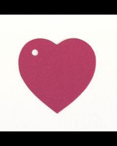 Heart Shaped Gift Tags 20Pk - Fuchsia