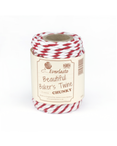 10m Chunky Bakers Twine - Red / White