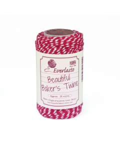 20m Bakers Twine - Red / White