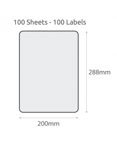 L1 Plain Recycled Labels (200x288mm) 100Pk-White