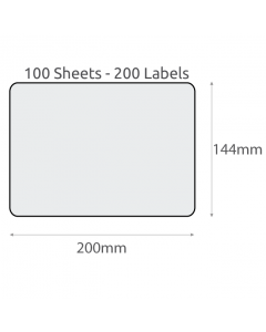 L2 Plain Recycled Labels (144x200mm) 100Pk-White