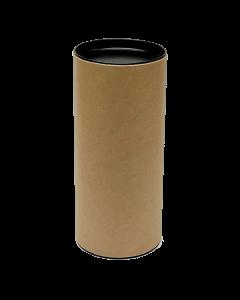 180mm x 76mm Packaging Tube - Black Ends Caps - Pack of 20