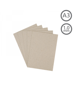 A3 Recycled 1mm Greyboard 100Pk