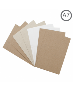 A7 Recycled Natural Card 100Pk