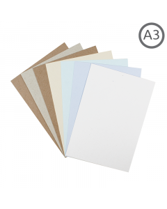 A3 Recycled Natural Card 10Pk