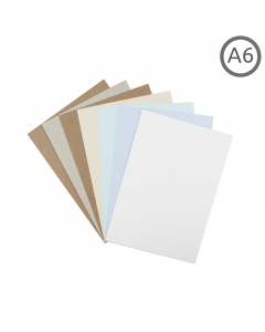 A6 Recycled Natural Card 100Pk