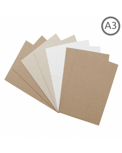 A3 Recycled Natural Thin Card 10Pk
