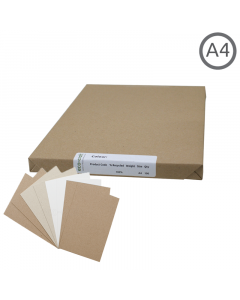 A4 Recycled Natural Thin Card 100Pk