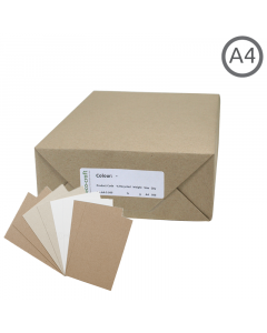 A4 Recycled Natural Thin Card 500Pk
