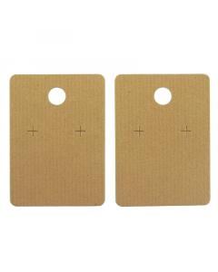Earring Hanger (55mm) 20Pk. - Ribbed Brown