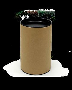 120mm x 76mm Packaging Tube - Black Ends Caps - Pack of 24