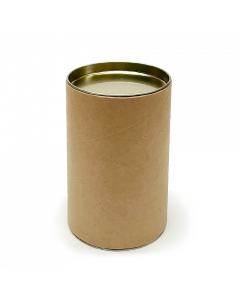 120mm x 76mm Packaging Tube - Gold Ends Caps - Pack of 24