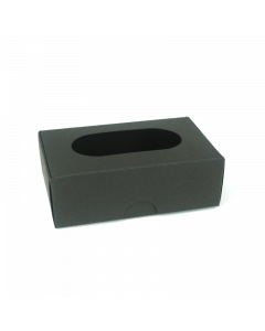 89x59x29mm Soap / Business Card Box With Viewing Window 10Pk-Black
