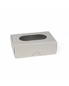 89x59x29mm Soap / Business Card Box With Viewing Window 10Pk-EcoNatural