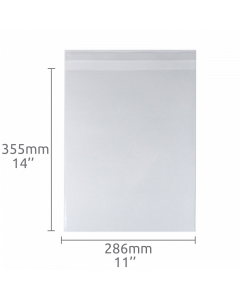 11x14 inch (286x355mm) Self Seal Compostable Bag 100 Pk