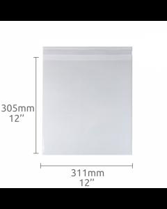 12x12 inch (311x305mm) Self Seal Compostable Bag 100 Pk